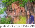 The soft focus of wooden bridge, balcony at mounta 31562599