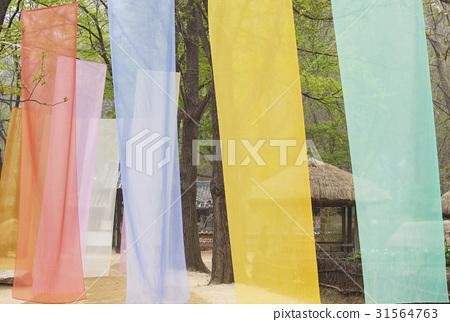 염색,천,용인민속촌,용인시,경기도 31564763