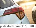 Back lights of a car 31568883