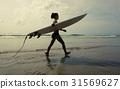 Girl Beach Surfer 31569627