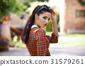 portrait, attractive, garden 31579261
