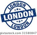 London blue round grunge stamp 31580847