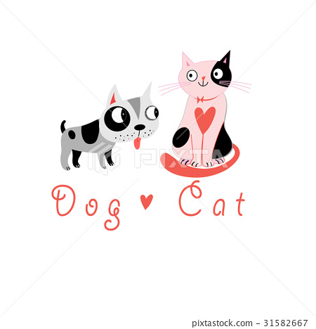 Lovers funny cats and dog 31582667
