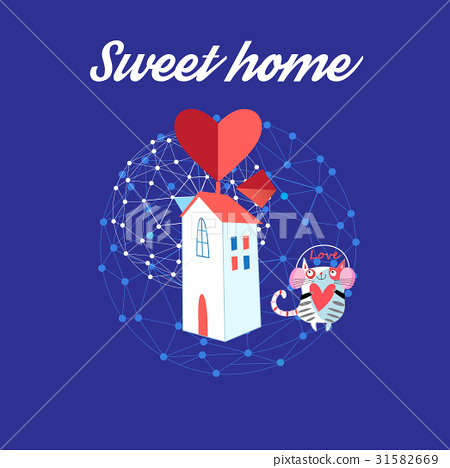 Sweet house with a loving cat 31582669