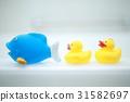 鴨子玩具(浴室浴缸浴缸家庭系列玩具鴨白色白色) 31582697