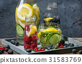 Citrus cucumber sassy water 31583769