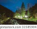 Borjomi, Samtskhe-Javakheti, Georgia. Scenic Night 31585904