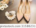 White beautiful wedding shoes for women, bride 31586231