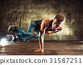 Young man break dancing 31587251