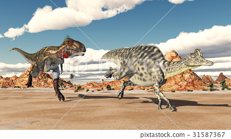 Nanotyrannus attacks Velafrons 31587367