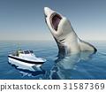 Sea angler and the Megalodon shark 31587369