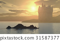 Loch Ness Monster and Scottish Castle 31587377