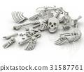 Skeleton parts on the floor 31587761