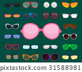 vector, fashion, sunglasses 31588981
