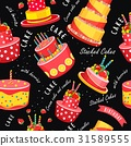 Cake seamless pattern 31589555