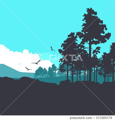 Vertical forest banner 31589579
