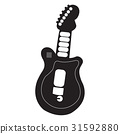 Isolated guitar toy 31592880