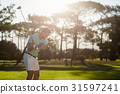 玩 演奏 高尔夫球手 31597241