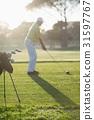 Golf Bag Playing 31597767