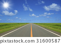 straight road, cloud, clouds 31600587