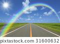 straight road, rainbow, cloud 31600632