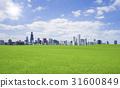 绿色草原和云彩和太阳 31600849