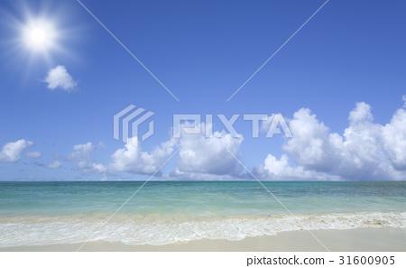 해변과 파도와 구름과 태양 31600905