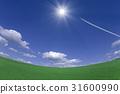 푸른 하늘, 파란 하늘, 초원 31600990