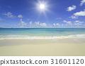 海灘和波浪和雲彩 31601120