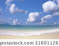 海灘和波浪和雲彩 31601126