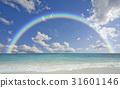 海灘和波浪,雲彩和彩虹 31601146