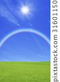 草原,彩虹和太陽 31601150