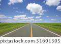 straight road, cloud, clouds 31601305