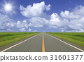 straight road, straight path, cloud 31601377
