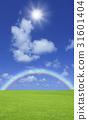 草原,彩虹和太陽 31601404