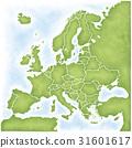 지도, 맵, 유럽 31601617