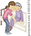 노인의 몸을 일으킬 간병인 31601873