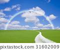 straight road, rainbow, cloud 31602009