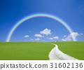 straight road, rainbow, cloud 31602136