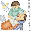치아 치료를하는 치과 의사 31602383