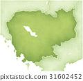 캄보디아, 지도, map 31602452