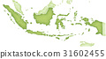 인도네시아지도 31602455