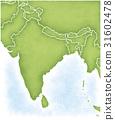 인도와 그 주변의지도 31602478