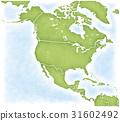 북아메리카 대륙과 그 주변의지도 31602492