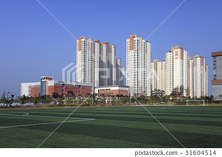 운동장,박문중학교,송도캐슬해모로아파트,송도,연수구,인천 31604514