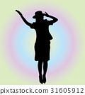 silhouette, silhouettes, female 31605912