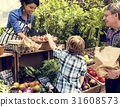 Woman owner fresh grocery organic shop with customer 31608573