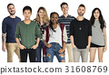 Group of Diversity People Together Set Studio Isolated 31608769
