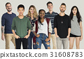 Group of Diversity People Together Set Studio Isolated 31608783