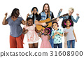 Diverse of People Enjoy Music Lifestyle Studio Isolated 31608900